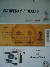 VIP TICKET Eishockey WM 12.5.2015 Norwegen - Weißrussland in Ostrava