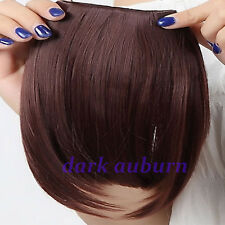 Real Natural Clip in on Front Neat Bang Fringe Hair Extensions Any Colors HS72