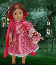 """Little Red Riding Hood 3 piece Set made for 18"""" American Girl Doll Clothes"""