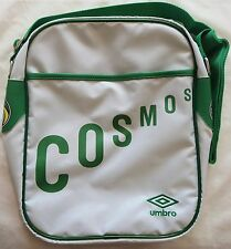 NEW YORK COSMOS WHITE RETRO MESSENGER BAG BY UMBRO BRAND NEW WITH TAGS