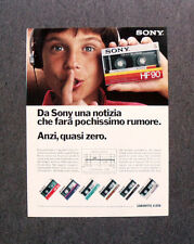 [GCG] L504 - Advertising Pubblicità -1984- SONY AUDIOCASSETTE