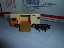 VTG 1977 LESNEY MATCHBOX SUPERFAST #40 HORSE BOX TRANSPORTER TRUCK W BULL FIGURE