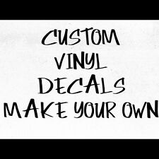 Make Your Own Custom Die Cut Vinyl Decal Sticker Car Window Wall Laptop font