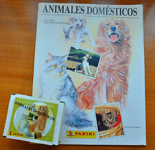 ALBUM DE CROMOS ANIMALES DOMESTICOS  + 35 SOBRES. PANINI / STICKER PACKS