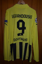 BORUSSIA DORTMUND 2012/2013 CHAMPIONS LEAGUE FOOTBALL SHIRT PUMA #9 LEWANDOWSKI