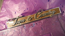 Chrysler Town & Country Grill Emblem, Vintage 1968-73?, #2786917, Station Wagon