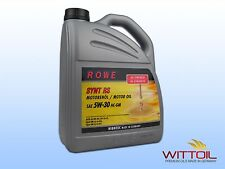 5 LITRI OLIO MOTORE OPEL Dl MOTORE Rowe TECH SYNT RS SAE 5w-30 HC-GM