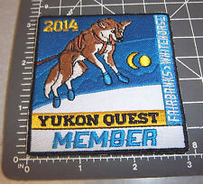 2014 Alaska Yukon Quest 1000 mi DogSled Race Embroidered Patch - MEMBER