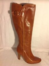 Next Brown Knee High Leather Wide Fit Boots Size 4