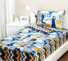 ZIPIT EXTREME SPORTS ZIP UP EASY TO MAKE BED TWIN BED SET  AS SEEN ON TV ++BONUS