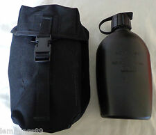 Brand New Genuine Military Black Avon Water Bottle and Pouch SAS