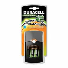 Duracell Go Mobile Charger w/ 2 AA & 2 AAA Rechargeable Batteries w/ Car Adaptor