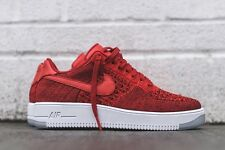 Nike Air Force 1 Ultra Flyknit LOW rosso Bianco UK 10 US 11 Mid High Roshe Free MAX