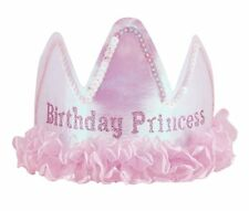 Satin Birthday Princess TIARA - Girls Birthday Party Hat Accessory