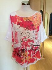 Aldo Martins Top Size 10 BNWT Cream Pink Orange Black RRP £84 Now £38