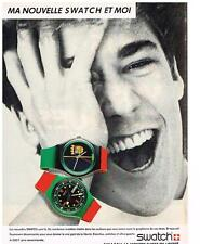 PUBLICITE ADVERTISING   1986  SWATCH  montres