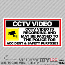 Cctv Video Is Recording For Accident And Safety Purposed Self Adhesive Sticker