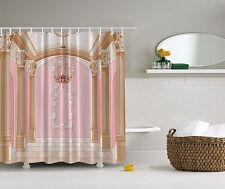 Glamour Fancy Palace Chandelier Royal Columns Digital Graphic Shower Curtain