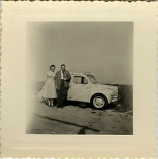 PHOTO ANCIENNE - VINTAGE SNAPSHOT - VOITURE AUTOMOBILE RENAULT 4CV COUPLE - CAR