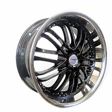 4 GWG Wheels 20 inch Black Chrome Lip AMAYA Rims fits 5X112 MERCEDES CL-CLASS