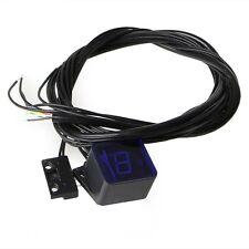 Universal Blue LED Digital Gear Indicator Motorcycle Display Shift Lever Sensor