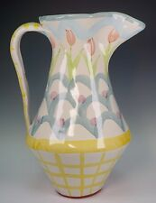 "Large Pitcher 12 1/4"" Tall King Ferry by MacKenzie-Childs - Excellent Condition!"