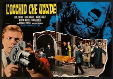 FOTOBUSTA 4, L'OCCHIO CHE UCCIDE Peeping Tom POWELL,BOEHM,THRILLER HORROR POSTER
