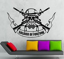 Wall Stickers Vinyl Decal Soldier of Fortune War Military (ig1810)