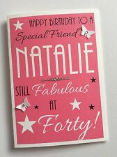 "Personalised Handmade ""Fab at 40"" Birthday Card (30th 40th 50th)"