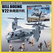 318 PCS Bell Boeing V-22 Osprey Aircraft Model 3D ABS Plastic Building Blocks