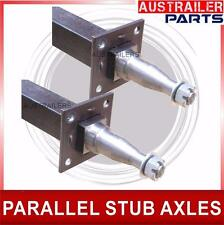 Trailer Stub Axles With Brake Mount Welded. Suits parallel bearing
