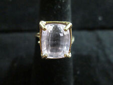 VINTAGE 10K YELLOW GOLD AMETHYST RING SIZE 6.75