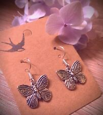 Butterfly earrings silver beautiful boho nature