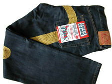 NW $495 Evisu Genes Jeans Daicock Embroidered Yellow 42