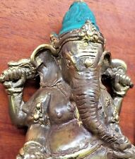 Asian Bronze Ganesh Elephant God Statue Figure