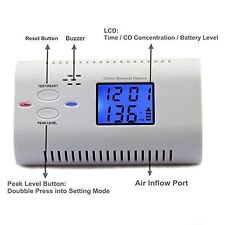 LCD Display Carbon Monoxide CO Alarm Detector Fire Warning Monitor Voice Prompt