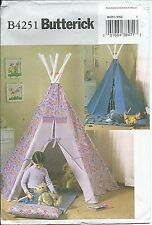 B 4251 sewing pattern TEPEE sew MAT sleep PILLOW Tent Hideout FUN for kid's room