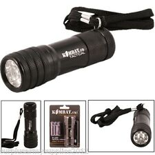 MICRO CAMPING 9 LED METAL TORCH + BATTERIES SUPER BRIGHT HIKING