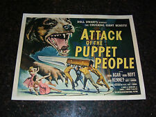 "ATTACK OF THE PUPPET PEOPLE Original Movie Poster, 22"" x 28"", C8 Very Fine"