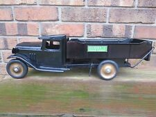 "Vintage 1930's Buddy L Pressed Steel Dump Truck 20"" Long"