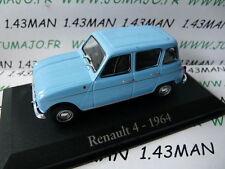 voiture 1/43 RBA Italie IXO : RENAULT 4 L 1964 bleu