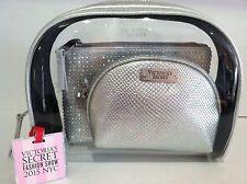 Victoria's Secret Fashion Show 2015 Cosmetic Bag Trio, Silver Color New.
