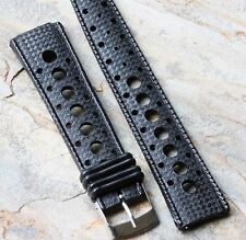Black rubber 20mm Tropic strap type divers round holes Tropic band 18 sold here