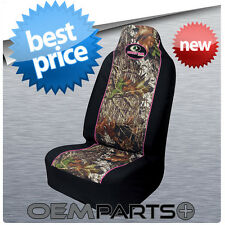 1X PINK MOSSY OAK SEAT COVER UNIVERSAL CAMOUFLAGE CAMO BUCKET TRUCK SUV CAR GIRL