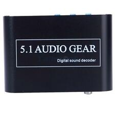 DTS/AC3 Digital Audio Decoder To Analog 5.1 2.1 Channel Stereo Optical Coaxial