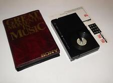 Betamax Video ~ Great Moments in Music case with Blank Sony 750 ~ NEW