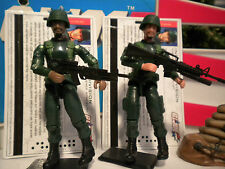 GI JOE ~ 2005 GREEN SHIRT INFANTRY  DIVISION TROOPERS ~ TOYS R US EXCLUSIVE !!