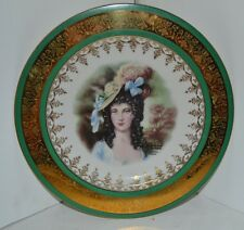 Bavaria Portrait Charger/Plate Royal Vienna Bareuther Waldsassen 10.5""
