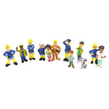 Fireman Sam Figures Toys - 12 Pcs Set Action 6cm Approx