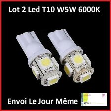 2X T10 W5W 5 LED 5050 SMD CANBUS ANTI ERREUR TUNING 6000K AUDI A3,A4,A6